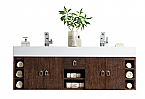 "James Martin Tiburon Collection 59"" Double Vanity, Coffee Oak"