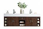 "James Martin Tiburon Collection 59"" Double Vanity, Coffee Oak"