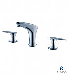 Chrome Parina Double Handle Widespread Lavatory Faucet