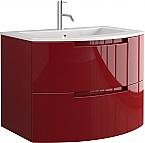 Anity 39 inch Modern Floating Bathroom Vanity Red Glossy Finish
