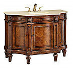 Adelina 47 inch Antique Bathroom Vanity Cream Marble Top