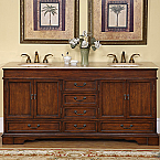 Accord Antique 72 inch Double Sink Bathroom Vanity