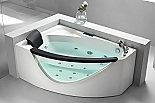 Eago AM198-R 5' Rounded Clear Modern Corner Whirlpool Spa