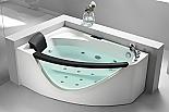 Eago AM198-R 5' Rounded Clear Modern Corner Whirlpool Spa