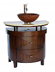 Adelina 32 inch Contemporary Vessel Sink Bathroom Vanity