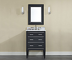 24 inch Black Contemporary Bathroom Vanity