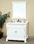 Bella 42 inch White Bathroom Vanity Cream Marble Top