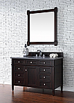 Abstron Contemporary 48 inch Single Bathroom Vanity Mahogany Finish No Top