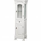 Ancora Traditional Linen Cabinet White Finish