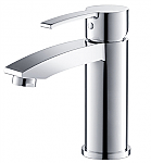 Single Hole Mount Bathroom Vanity Faucet Chrome Finish