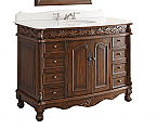 Adelina 48 inch Antique Bathroom Vanity Brown Finish