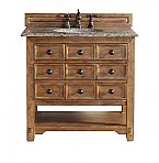 "James Martin Malibu Collection 36"" Single Vanity Cabinet, Honey Alder"