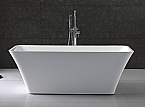 "Virtu Serenity 67"" White Free Standing Soaking Bathtub"
