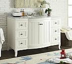49 inch Adelina White Finish Bathroom Vanity Carrara Marble Top