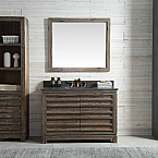 48 inch Distressed Wood Bathroom Vanity Moon Stone Countertop