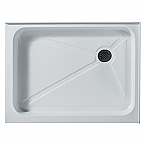 Vigo Rectangular Shower Tray White Right Drain