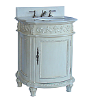 Adelina 26 inch Petite Bathroom Vanity Antique White Finish