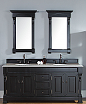 "James Martin Brookfield Collection 72"" Double Vanity, Antique Black"