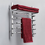Virtu USA Kozë Wall Mounted Towel Warmer 6 Electric Warming Towel Bars