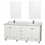 "Accmilan 72"" White Bathroom Vanity Set"