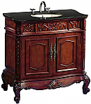 Adelina 43 inch Vintage Bathroom Vanity Antique Cherry Finish