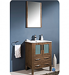 "Fresca Torino 24"" Modern Bathroom Vanity Walnut Finish"