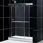 "60""W x 76""H Frameless Sliding Bypass Shower Door"