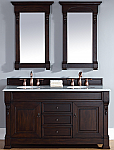 "James Martin Brookfield Collection 60"" Double Vanity, Burnished Mahogany"