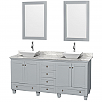 "Acclaim 72"" Double Bathroom Vanity in Oyster Gray with Countertop, Sinks and Mirror Options"