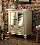 30 inch Adelina Distressed Light Beige Finish Bathroom Vanity
