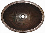 Copper Oval Ribbed Sink Chocolate Finish Finest Handmade