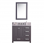 Daston 36 inch Gray Finish Single Sink Bathroom Vanity