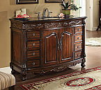 48 inch Adelina Antique Bathroom Vanity Medium Brown Finish