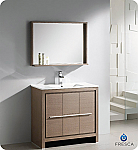 "Fresca Allier 36"" Modern Bathroom Vanity Grey Oak Finish"