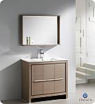 36 inch Modern Bathroom Vanity Grey Oak Finish