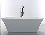 Virtu Serenity 67 inch White Free Standing Soaking Bathtub