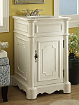 21 inch Adelina Petite Antique White Finish Bathroom Vanity