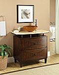 36 inch Adelina Contemporary Vessel Sink Bathroom Vanity