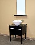 Bella 26 inch Black Finish Single Sink Bathroom Vanity