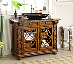 "Adelina 42"" Vessel Sink Antique Bathroom Vanity"