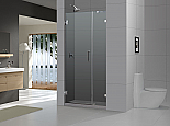 "DreamLine 72"" X43"" Radiance Frameless Shower Door, Chrome or Brushed Nickel finish"