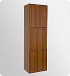 Teak Bathroom Linen Cabinet 3 Large Storage Areas
