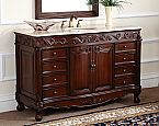 48 inch Adelina Classic Old Fashioned Look Bathroom Vanity