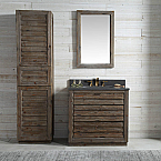 36 inch Fir Wood Bathroom Vanity Moon Stone Countertop