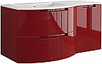 Anity 43 inch Modern Floating Bathroom Vanity Red Glossy Finish