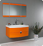 Fresca Energia Orange Modern Bathroom Vanity