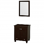 """Acclaim 30"""" Single Bathroom Vanity in Espresso, No Countertop, No Sink, and 24"""" Mirror"""