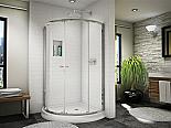 "Fleurco Banyo Amalfi 32"" Arc 4 Semi-Frameless Sliding Shower Door"