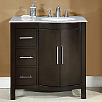 Accord 36 inch Contemporary Single Sink Bathroom Vanity with Right Sink