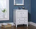 24 inch Traditional Bathroom Vanity Whitewash Finish